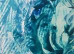 Pod vodou /enkaustika na papíře 21x29,5cm   1500 Kč