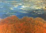 Za horama (2016) akryl na plátně 60x80cm (v soukr.sbírce)