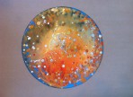 Fire (2016) akryl& vosk na gramodesce, v soukr. sb.