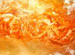 Zážeh Vědomí (2015 enkaustika 42x60cm)
