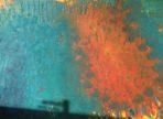 Korálový ostrov (2016) akryl a zlato na plátně 50x70cm  9 000 Kč