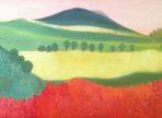 Krajinka (2015 olej na plátně 35x70cm v soukr. sb.