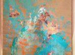 Free As A Bird (2017 akryl na papíře, sklo+dřevěný rám 70x100 cm) 20 000 Kč