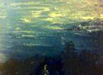 Stromy pod nebem (2016  akryl a zlato na plátně 60x80 cm v soukr. sb.)