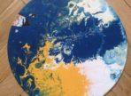 Yellow&Blue&White (2018 akryl na gramodesce, v soukr. sb.)